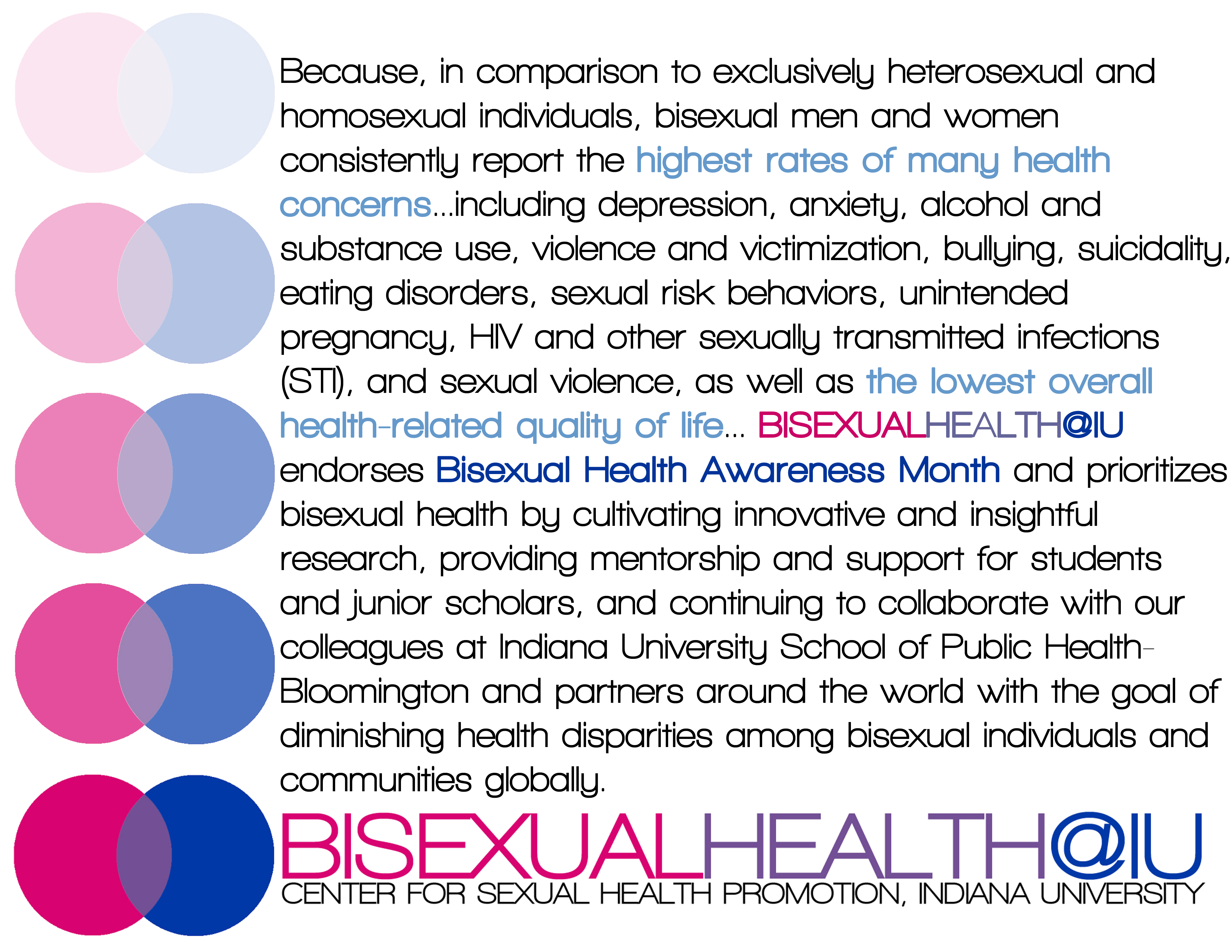Bisexual Health IU Conference Information Image