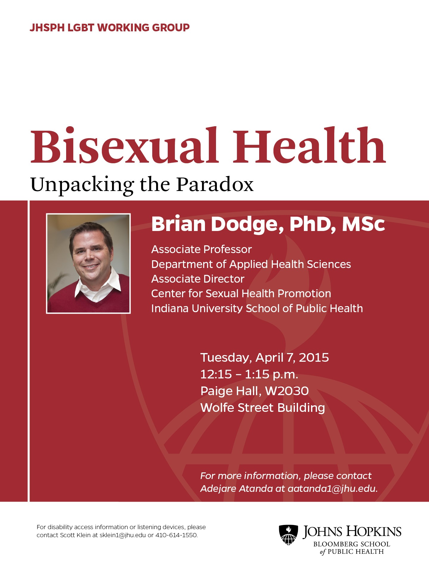 Photo of Dodge Bisexual Health Poster