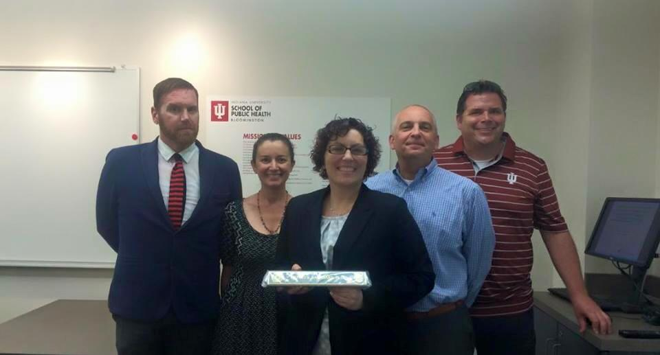 Photo of Kathryn Barnhart and dissertation committee